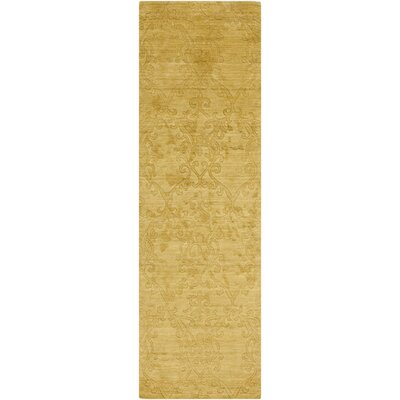 Gallaher Split Pea Yellow Area Rug Rug Size: Runner 26 x 8