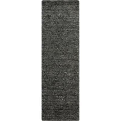Gallaher Black Olive Area Rug Rug Size: Runner 26 x 8