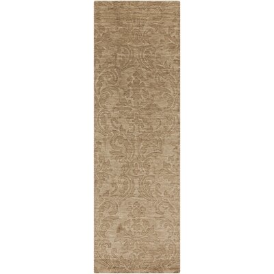 Gallaher Raw Umber Area Rug Rug Size: Runner 26 x 8