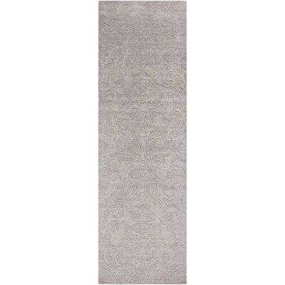 Gallaher Light Gray Mist Area Rug Rug Size: Runner 26 x 8