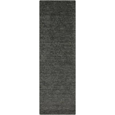 Gallaher Black Area Rug Rug Size: Runner 26 x 8
