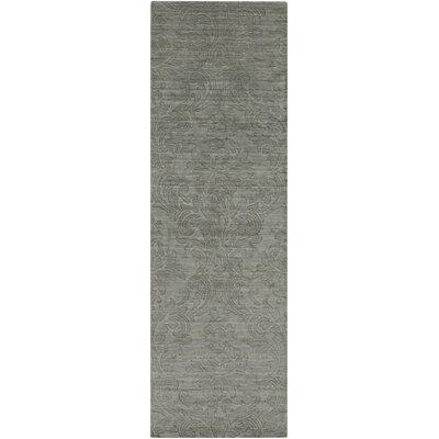 Gallaher Bay Gray Leaf Area Rug Rug Size: Runner 26 x 8