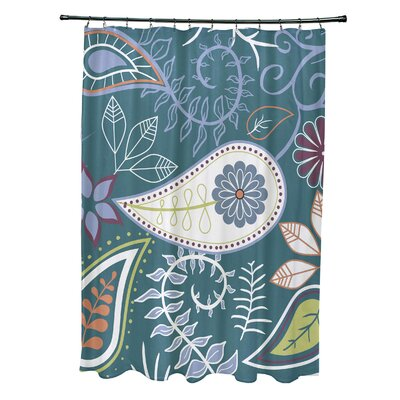 Orchard Lane Polyester Paisley Floral Shower Curtain Color: Teal
