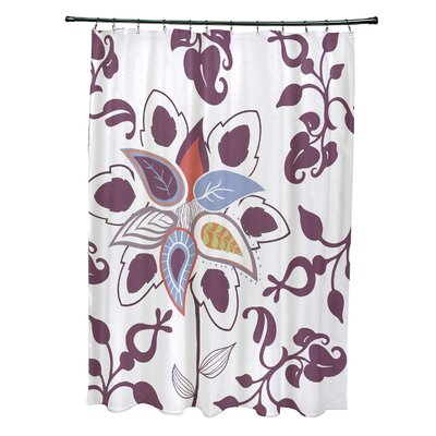 Orchard Lane Polyester Paisley Pop Floral Shower Curtain