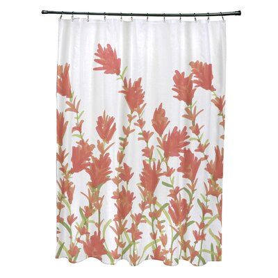 Orchard Lane Polyester Lavender Floral Shower Curtain