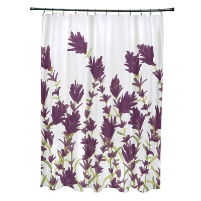 Orchard Lane Polyester Lavender Floral Shower Curtain Color: Purple