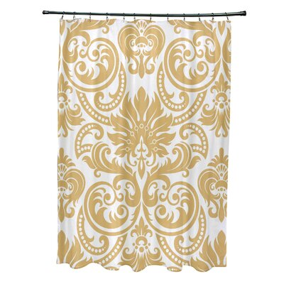 Hanriette Shower Curtain Color: Yellow