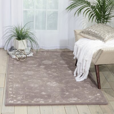 Kalona Hand-Tufted Dove Area Rug Rug Size: 36 x 56