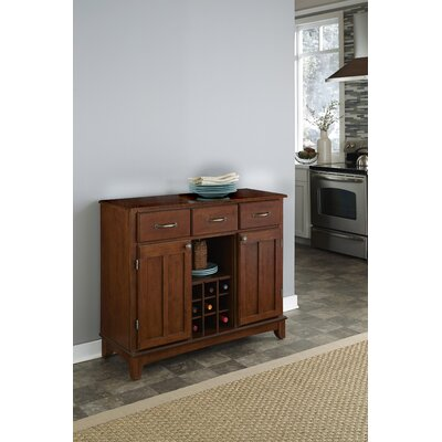 Ferris 3 Drawer Wood Server Color: Cherry