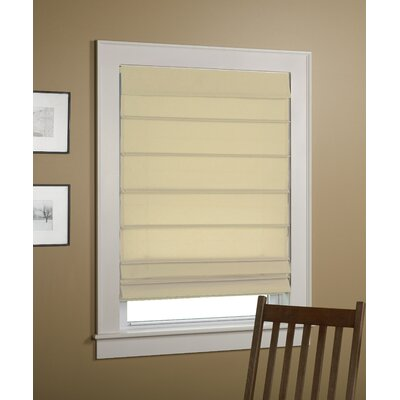 Sheer Roman Shade Size: 36 W x 64 L, Color: Ivory