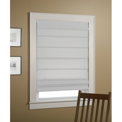 Sheer Roman Shade Size: 27 W x 64 L, Color: White