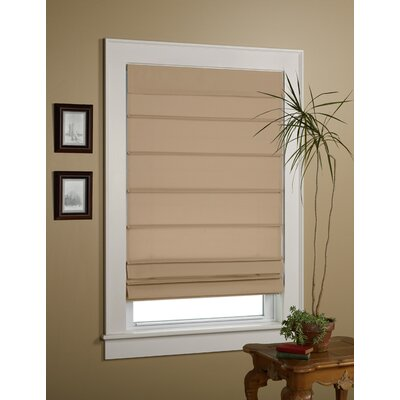 Sheer Roman Shade Size: 36 W x 64 L, Color: Taupe