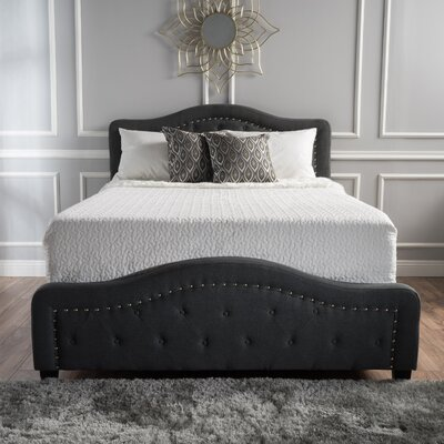 Panel Bed Size: Queen, Color: Dark Gray