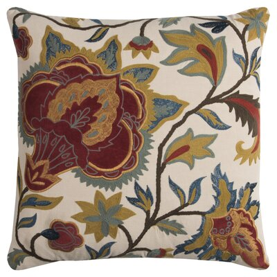 Hoyne Cotton Throw Pillow Color: Cream