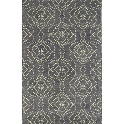 Bergland Hand Tufted Gray/Beige Area Rug Rug Size: 36 x 56