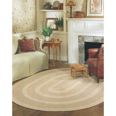 Knudtson Beige Indoor/Outdoor Area Rug Rug Size: Oval 7 x 9