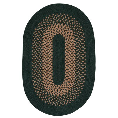 Lionel Alpine Green Area Rug Rug Size: Oval 12 x 15