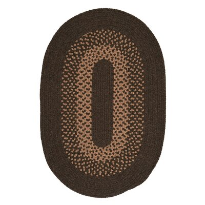 Lionel Roasted Brown Area Rug Rug Size: Oval 7 x 9