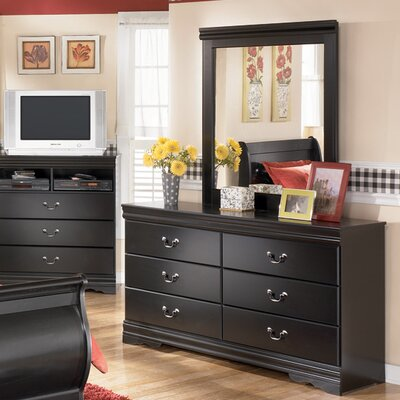 Parkmead 6 Drawer Double Dresser with Mirror