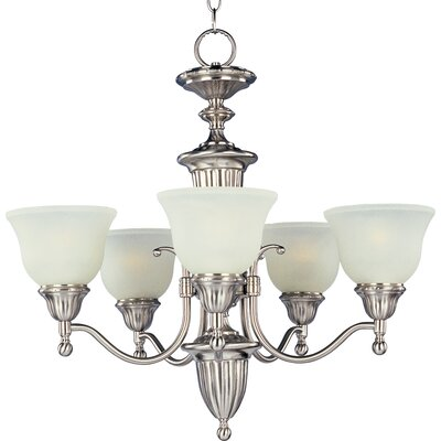 Kerrigan 5-Light Shaded Chandelier Finish: Satin Nickel