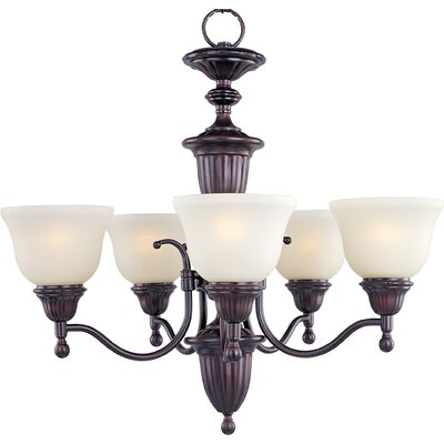 Kerrigan 5-Light Shaded Chandelier Finish: Oil Rubbed Bronze
