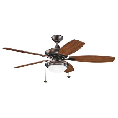 52 Princeton Traditional 5 Blade LED Ceiling Fan Finish: Oil Brushed Bronze with Cherry/Walnut Blades