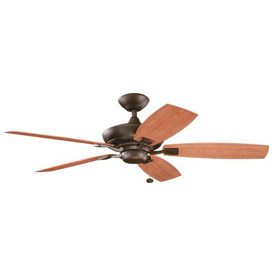 52 Princeton 5-Blade Patio Ceiling Fan Finish: Tannery Bronze with Cherry/Walnut Blades