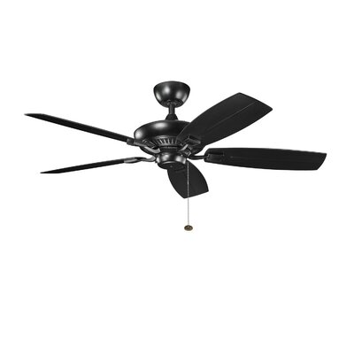 52 Carbondale 5-Blade Patio Ceiling Fan Finish: Satin Black