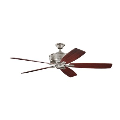 70 Carruthers 5-Blade Ceiling Fan Finish: Burnished Antique Pewter