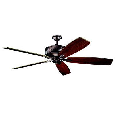 70 Carruthers 5-Blade Ceiling Fan Finish: Oil Brushed Bronze with Cherry/Walnut Blades