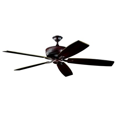 70 Carruthers 5-Blade Ceiling Fan Finish: Tannery Bronze with Cherry/Teak Blades