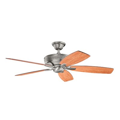 52 Carruthers 5-Blade Ceiling Fan Finish: Burnished Antique Pewter