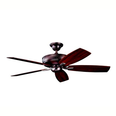 52 Carruthers 5-Blade Ceiling Fan Finish: Oil Brushed Bronze with Cherry/Walnut Blades