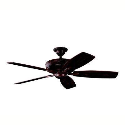 52 Carruthers 5-Blade Ceiling Fan Finish: Tannery Bronze with Cherry/Teak Blades
