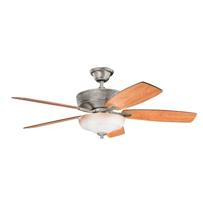 52 Carruthers Select 5 Blade Ceiling Fan Finish: Burnished Antique Pewter