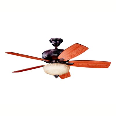 52 Carruthers Select 5 Blade Ceiling Fan Finish: Oil Brushed Bronze with Cherry/Walnut Blades