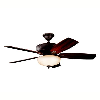 52 Carruthers Select 5 Blade Ceiling Fan Finish: Olde Bronze with Cherry/Walnut Blades