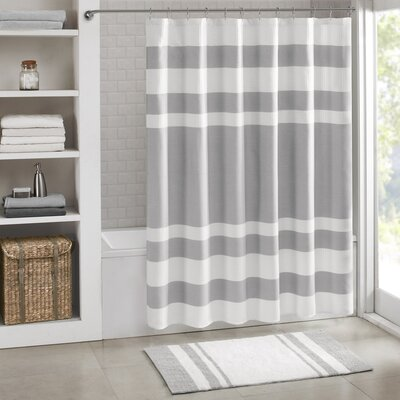 Hopwood Striped Bath Rug Color: Gray