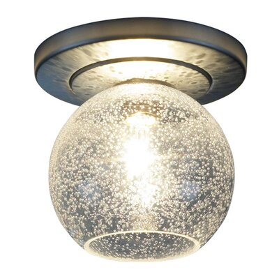 Carvalho 1-Light Semi-Flush Mount Shade Color: Clear, Finish: Chrome