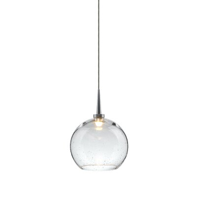 Carvalho 1-Light Mini Pendant Shade Color: Clear, Finish: Matte Chrome