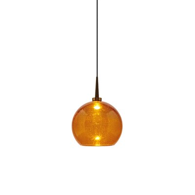 Carvalho 1-Light Mini Pendant Finish: Bronze, Shade Color: Amber