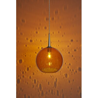 Carvalho 1-Light Mini Pendant Finish: Matte Chrome, Shade Color: Amber