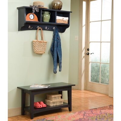Bel Air 2-Piece Entryway Wall Shelf and Bench Set