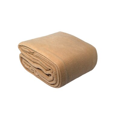 Pencewood Fleece Blanket Color: Sand, Size: Full / Queen