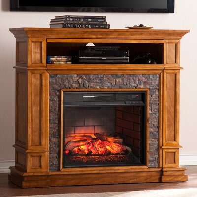 Cargile Simulated Media Center Infrared Electric Fireplace