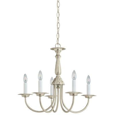 Brookville 5-Light Candle-Style Chandelier Finish: Brushed Nickel
