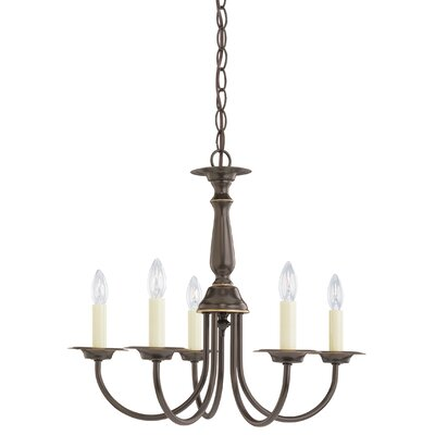 Brookville 5-Light Candle-Style Chandelier Finish: Heirloom Bronze