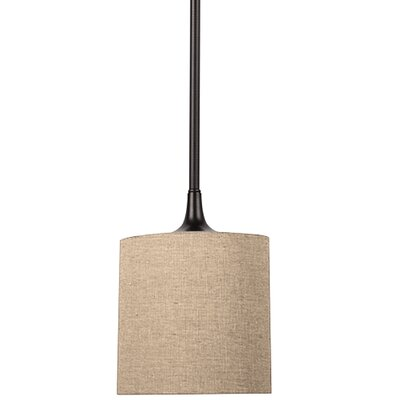 Foland 1-Light Mini Pendant Base Finish: Burnt Sienna, Shade Color: Beige
