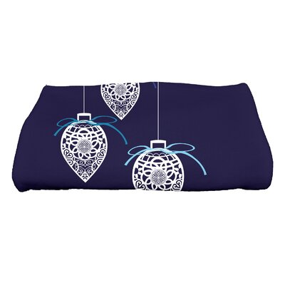 Filagree Ornaments Bath Towel Color: Blue