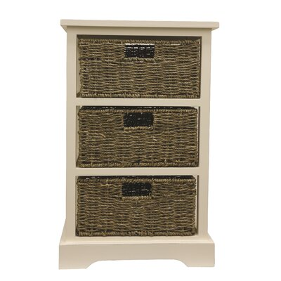 Eagan End Table With Storage Color: White